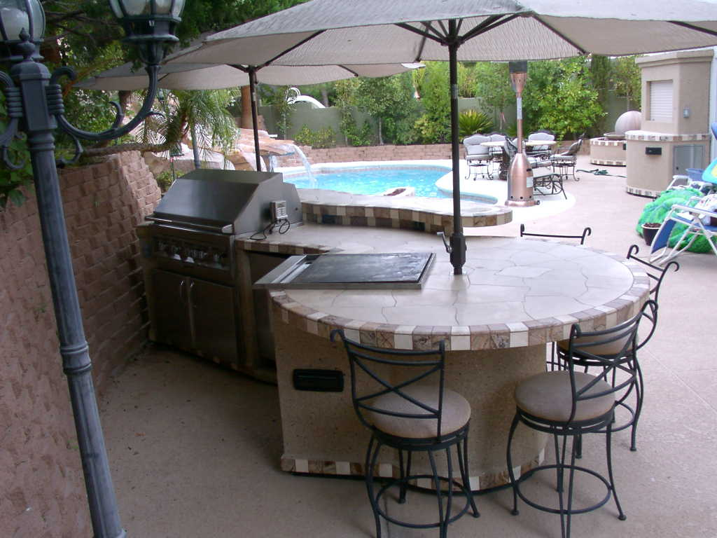 Custom Island by Nevada Outdoor Living - Desert BBQ Island Of Las ...