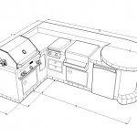 5100 Series Barbecue Island Side View